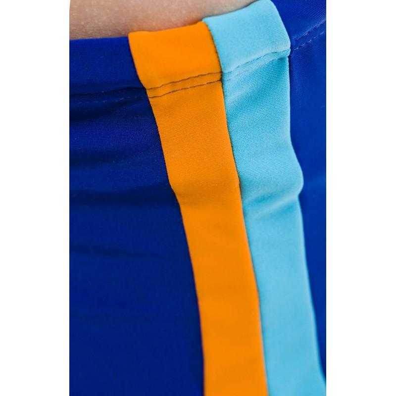 bf5d429887c946 Kąpielówki chłopięce typu spodenki z kolorowymi paskami - Rontil
