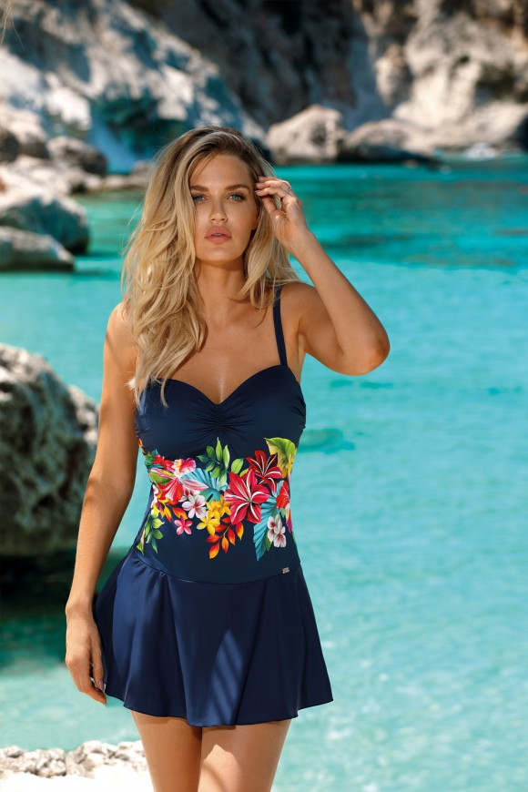Kostium kąpielowy jednoczęściowy typu Sukienka
