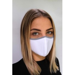 PROTECTIVE FACE MASK UNISEX WHITE WITH LIGHT GREY