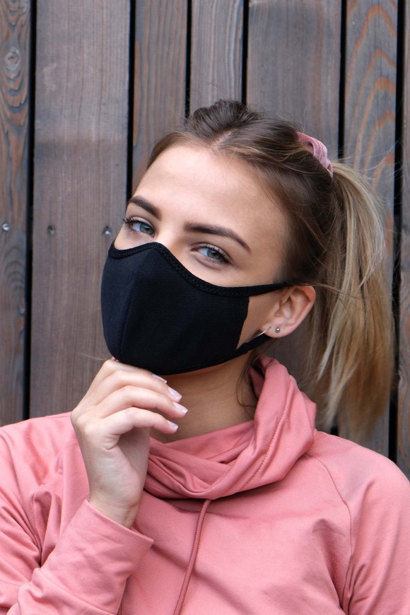 1 LAYER SPORTS FACE MASK UNISEX GREY