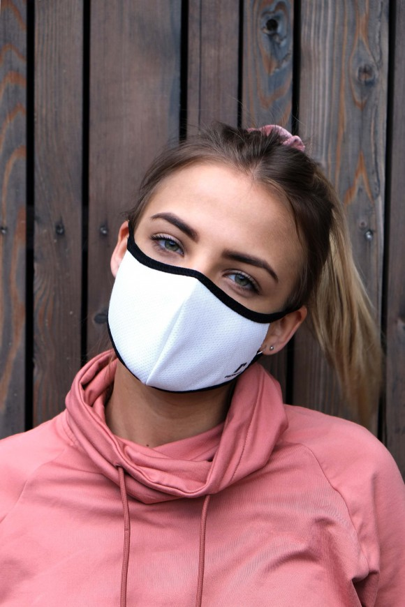 1 LAYER SPORTS FACE MASK UNISEX WHITE
