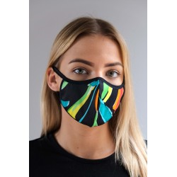 PROTECTIVE 1-LAYER FACE MASK UNISEX WITH COLORFUL PATTERN