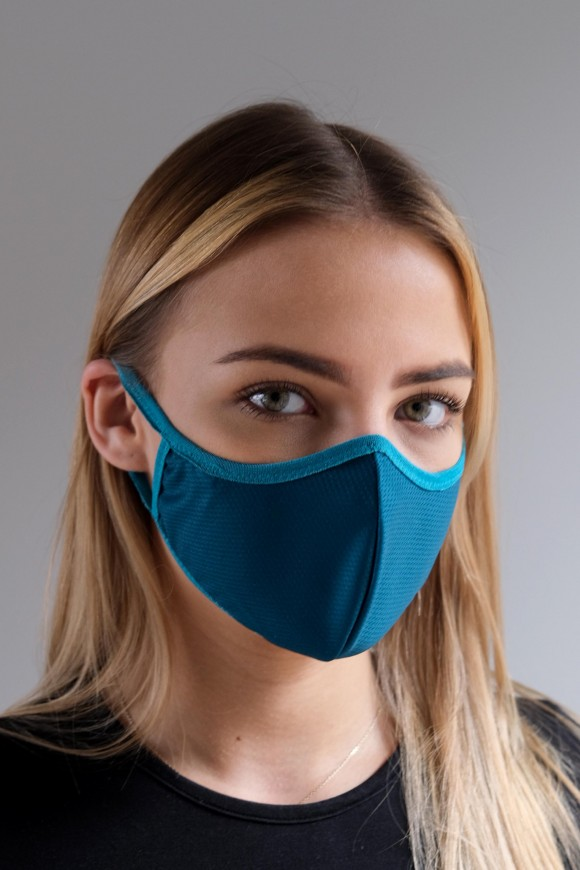 PROTECTIVE 1-LAYER FACE MASK UNISEX TURQUOISE