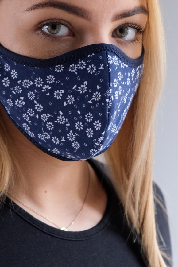 PROTECTIVE 2-LAYER FACE MASK UNISEX SAPPHIRE